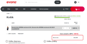 Evona.cz slevový kód